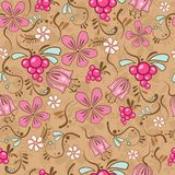 Floral pattern. Illustration of colored floral pattern Stock Image