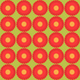 Floral pattern - Illustration seamless texture. Seamless floral pattern on the green background Royalty Free Stock Images