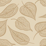 Floral pattern Leaf textured tiled background Royalty Free Stock Image