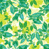 Floral pattern with leafs Royalty Free Stock Images