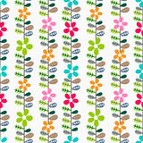 Floral pattern with leaves. Stock Photography