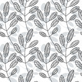 Floral pattern. Leaves texture. Stylish abstract vector plant ornamental background Royalty Free Stock Images