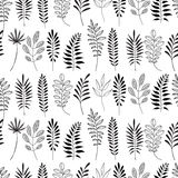 Floral pattern. Leaves texture. Stylish abstract vector plant ornamental background Stock Images