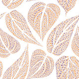 Floral pattern leaves textured tiled background Ornamental flour Royalty Free Stock Photo