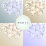 Floral pattern light blue, light beige Royalty Free Stock Photos