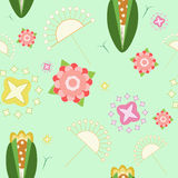 Floral pattern in light colors. Floral and other botanical elements texture in light colors Stock Photography