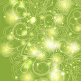 Floral pattern with lights Royalty Free Stock Photos