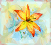 Floral Pattern with Lily Flower Stock Image