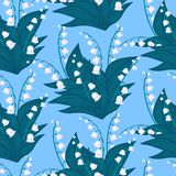 Floral pattern with lily-of-the-valley flowers Stock Photo