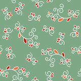 Floral pattern made of doodles. Seamless background, vector pattern for cushion, pillow, bandanna, kerchief, shawl fabric print. T Stock Photos