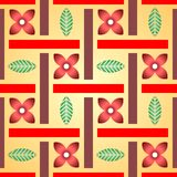 Floral pattern made of flowers and leaves. Stock Photography