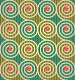 Floral pattern made of flowers and spirals. Royalty Free Stock Images