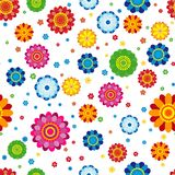 Floral pattern made in flowers on a white background, seamless. Vector illustration stock illustration