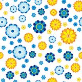 Floral pattern made in flowers on a white background, seamless. Vector illustration Stock Image