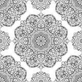 Floral pattern of mandalas. Stock Image