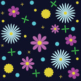 Floral pattern. Manufactory, background.Seamless texture vector Stock Photos