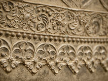 Floral pattern on a metal wall. Stock Images