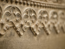 Floral pattern on a metal wall. Royalty Free Stock Photos