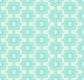 Floral pattern in mint green colors. Royalty Free Stock Photos