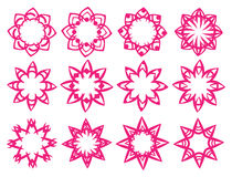 Floral Pattern Motifs Vector Design Elements Royalty Free Stock Photography