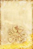 Floral pattern on old grunge paper Royalty Free Stock Photos