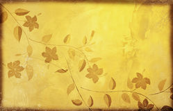 Floral pattern on old grunge paper Royalty Free Stock Photo