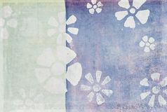 Floral pattern on old grunge wall Royalty Free Stock Image