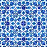 Floral pattern on old Turkish tiles, Istanbul. Used for interior decoration of Vezir Mosque, Sirkeci, Istanbul, Turkey Stock Illustration
