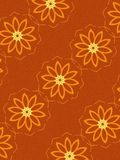 Floral Pattern in Orange. An abstract texture background pattern of flowers design in orange colors on red background vector illustration