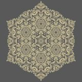 Floral  Pattern. Orient Abstract Background. Floral  oriental pattern with damask, arabesque and floral elements. Abstract ornament for background. Gray and Royalty Free Stock Photography