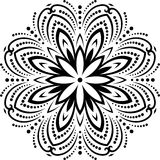Floral  Pattern. Orient Abstract Background Stock Image