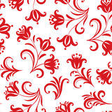 Floral pattern. Ornamental flower seamless background. Russian t Stock Photo