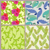 Floral pattern. Floral ornamental pattern with leaf and  flower Royalty Free Stock Photos