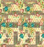 Floral pattern with paisley stock illustration