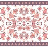 Floral rug pattern Stock Photos