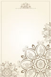 Floral pattern paper background Stock Images