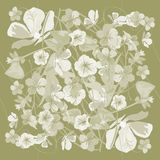 Floral pattern in pastel colors, Vector eps10. For the design of scarves. stock illustration