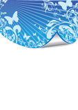 Floral pattern with peeling affect. Abstract blue floral background peeling off Stock Images