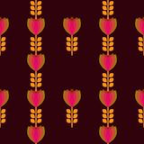 Floral pattern with petal on a brown background Royalty Free Stock Photos
