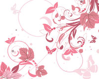 Floral pattern pink Royalty Free Stock Image