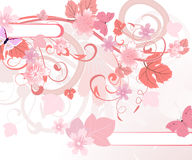 Floral pattern pink Royalty Free Stock Photography
