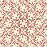 Floral pattern with pink and blue leaves Stock Photos