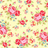 Floral pattern with pink rose Royalty Free Stock Photos