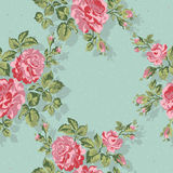 Floral pattern with pink roses. Vector Floral Background. Easy to edit. Perfect for invitations or announcements. Stock Photos