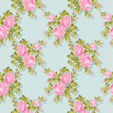 Floral pattern with pink roses. Vector Floral Background. Easy to edit. Perfect for invitations or announcements. Royalty Free Stock Images