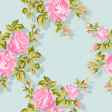 Floral pattern with pink roses. Vector Floral Background. Easy to edit. Perfect for invitations or announcements. Stock Image