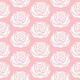 Floral pattern. Pink seamless vector pattern. Royalty Free Stock Photos
