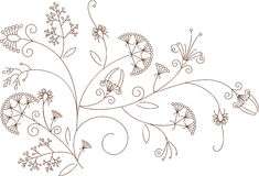 Floral pattern, plant ornament Royalty Free Stock Photography