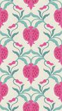 Floral pattern with pomegranates. Royalty Free Stock Image