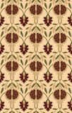 Floral pattern with pomegranates. Stock Photo